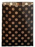 24 Papiertüten schwarz braun, gepunktet, 13 x 16,5 cm