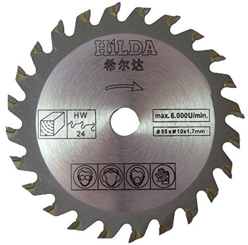 Kreissägeblatt für Batavia 7050560XXL Speed Saw. 85mm Durchmesser x 10mm Bohrung x 24T Holz Schneiden Klinge