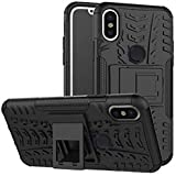 For Redmi Note 5 Pro,LOFAD CASE Hybrid Armor Design Detachable And Stand-up Feature Dual Layer Protective Shell Hard Back Cover Case For Xiaomi Redmi Note 5 Pro - (Midnight Black)