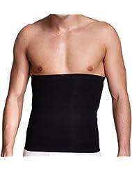 ULTNICE Hombres Cintura Trimmer Cinturón Abdominal Músculo Espalda Partidario - Tamaño M (Negro)