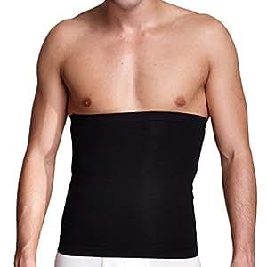 WINOMO Muscolare interna cintura dimagrante cintura birra pancia corpo Shaper cintura addome Shaper uomo - taglia L (nero)