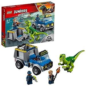 LEGO Juniors - Camión de Rescate del Raptor, Set de Construcción de Juguete de Dinosaurio con Camión y Minifigura de Owen y un Rastreador (10757)