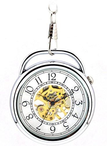 infinite-u-alarm-clock-shape-hollow-skeleton-steel-hand-wind-mechanical-pocket-watch-silver