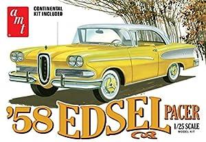 AMT AMT1087 1:25 1958 Edsel Pacer - Modelos para Manualidades, Color Blanco