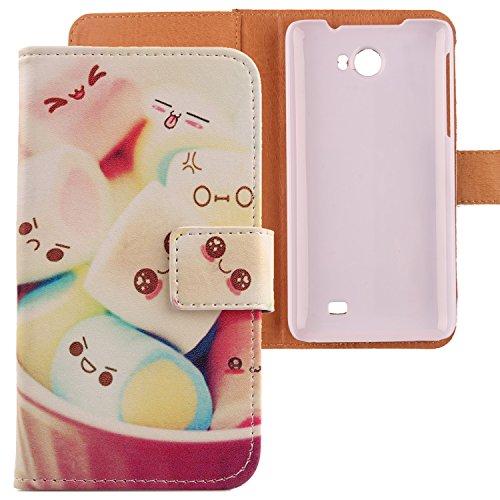 Lankashi PU Flip Leder Tasche Hülle Case Cover Schutz Handy Etui Skin Für Kazam Trooper 2 5.0 Lovely Design