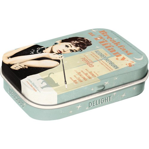 Nostalgic-Art 81247 Breakfast at Tiffany's Blue, Pillendose
