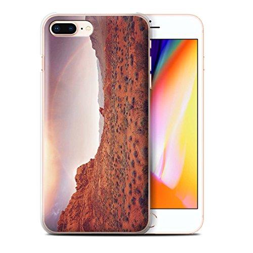 Stuff4 Hülle / Case für Apple iPhone 8 Plus / Straße/Autobahn Muster / Bundesstaat Nevada Kollektion Regenbogen