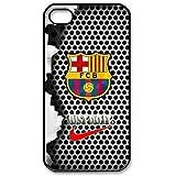 Generic Retro del FC Barcelona Logo fijación a presión rígida de plástico funda para ipod Touch 6