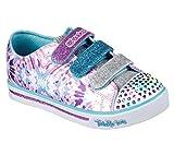 Skechers Mädchen Sparkle Glitz-Pop Party Sneaker, Mehrfarbig (White/Multicolour), 36 EU