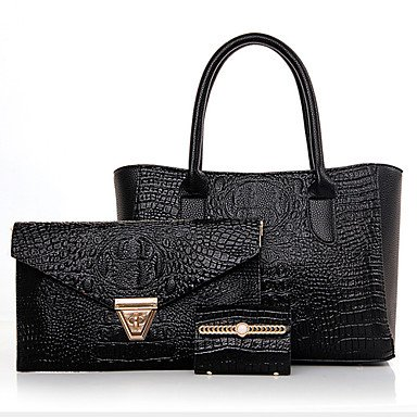 La donna pu canna borsa a tracolla / Tote / Frizione - blu / rosso / grigio / nero,grigio Black