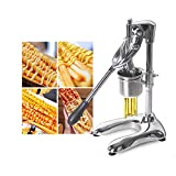 Spremiagrumi manuali delle strisce della patata fritta dell'acciaio inossidabile di 30 fori 12CM, frittelle lunghe patatine fritte Estrusore delle frese della macchina per l'annuncio pubblicitario