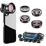 Apexel [aktualisierte Version HD Phone Lens Kit-170 ° Superweitwinkel,10x Makroobjektiv,2.0X Teleobjektiv,110 ° Weitwinkel,195 ° Fisheye-Objektiv für iPhone Android,Samsung und die meisten