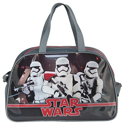 Star Wars Startroopers Yoda Darth Vader Sporttasche Reisetasche (STL), 40 x 25 x 13 cm, grau/schwarz Startrooper (STL)