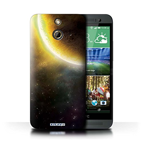 Kobalt® Imprimé Etui / Coque pour HTC One/1 E8 / Éclipse Jaune conception / Série Cosmos Éclipse Jaune