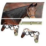 Braun Pferd, Designfolie Sticker Skin Aufkleber Schutzfolie mit Farbenfrohem Design für PlayStation 3 Fat