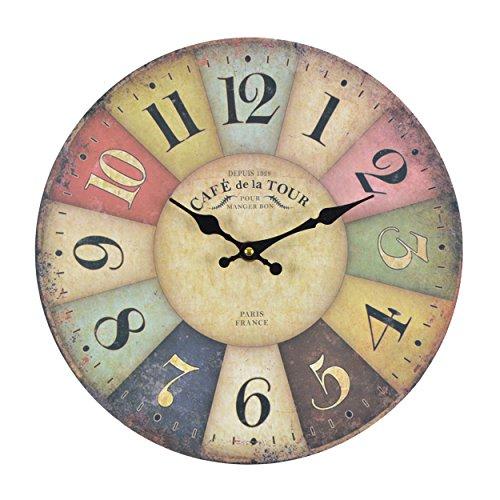Orologio da muro - Cafe Tour - Silenzioso orologio da cucina in ...