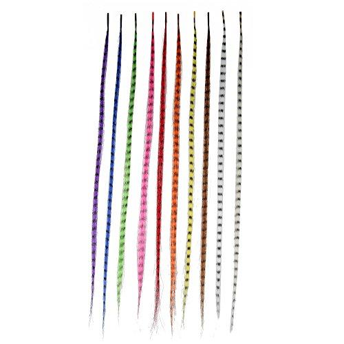 Beauty7 Lot de 10 Extension de cheveux Plume En Fibres Synthétiques 40 cm de Long