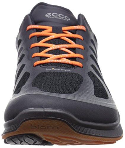 Ecco BIOM FJUEL Herren Outdoor Fitnessschuhe Schwarz (BLACK/BLACK/ORANGE 50987)