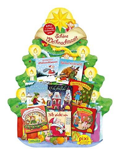 Preisvergleich Produktbild Pixis Riesen-Weihnachtsbaum: 8 Pixi-Bücher und 5 lustige Spiele auf großer Stanzpappe in Weihnachtsbaumform