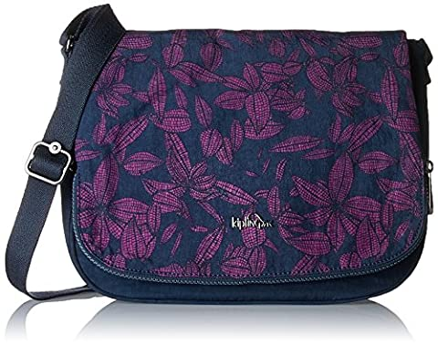 Kipling Earthbeat M, Women's Cross-Body Bag, Mehrfarbig (Orchid Bloom Bl), 30x22.5x0.1 cm (B x H