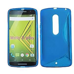 Lapinette - Etui Housse Coque Gel Vague S Motorola Moto X Play - Bleu