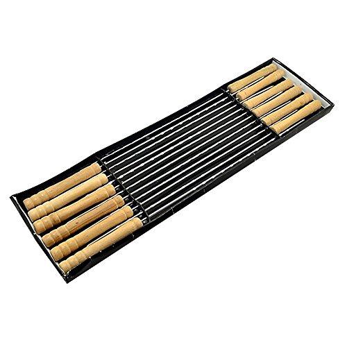 b-b-y-de-acero-inoxidable-y-mango-de-madera-barbacoa-grill-kabob-pinchos-pack-de-12-unidades