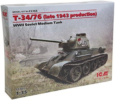 Jour de l'an ICM 35366–1/35 T34/76 späte produktion1943, Char | Offre Spéciale