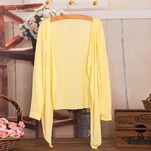 Felpe Donna Yanhoo Donne lunghe cardigan sottile moda protezione solare Abbigliamento Top N