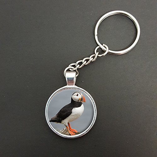 Puffin Pendant On A Split Ring Keyring Ideal Birthday Gift N581