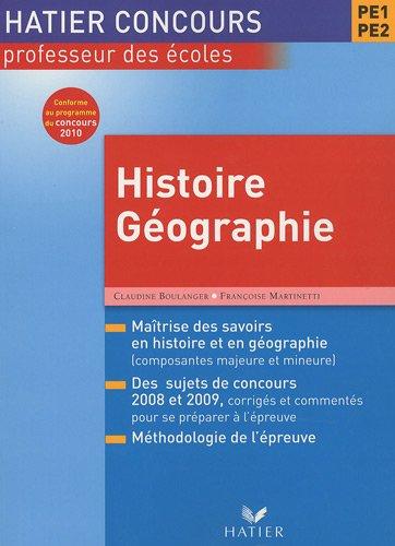 Concours CRPE Histoire-géographie