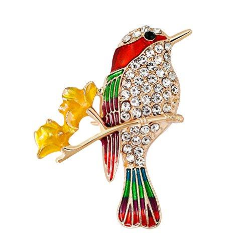 CAOLATOR Tiere Brooch Damen Retro Brosche Vintage Kristall Vögel Broschen Frauen Nadel Anstecker Anstecknadeln Geschenk Schmuck mit Strassteinen für Kleidung/Schals/Tücher/Ponchos/Hochzeit (Stil-2) - Hochzeit Schal Mit Kristallen