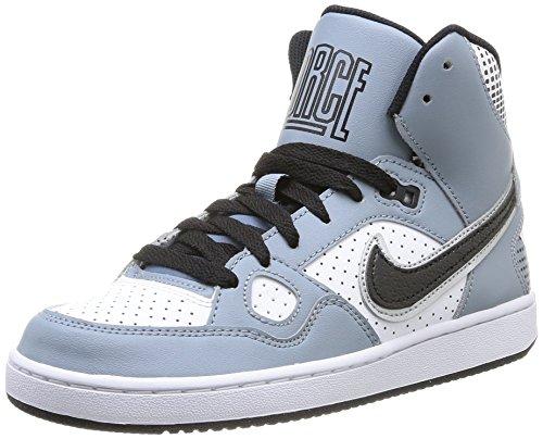 Nike - Son Of Force Mid, Alte Scarpe Da Ginnastica da Bambini e ragazzi Multicolore (MGNT GREY/BLCK-WHT-MTLLC SLVR)