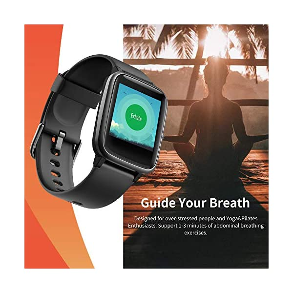 Smart Watch Bluetooth 5.0 Reloj Inteligente Impermeable IP68 Actividad GPS Sueño Pulsómetros Podómetro Caloría Deporte Fitness Música Control Despertador Pantalla Táctil Completa para Android iPhone 7