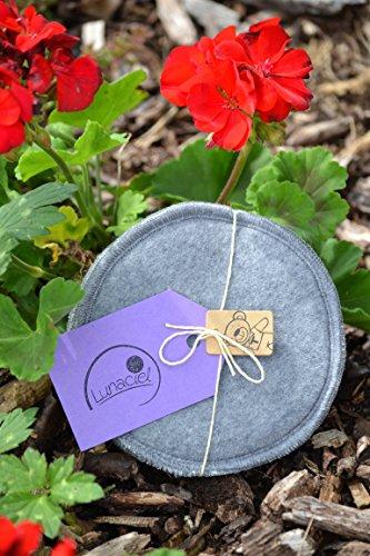 Stilleinlagen aus Bio-Baumwolle, 1 Paar 2 Stück, 3-lagig grau, extradick, wiederverwendbar waschbar umweltfreundlich stillen Erstausstattung