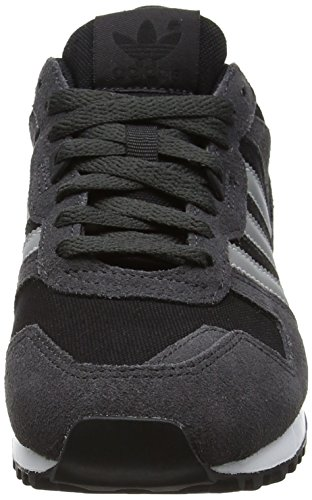 adidas Zx 700, Baskets Basses Mixte Adulte Noir (Utility Black F16/metallic Silver-sld/core Black)
