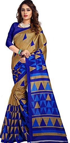 Samskruti Sarees Women's Abstract design Art Silk Saree(5570)  available at amazon for Rs.549