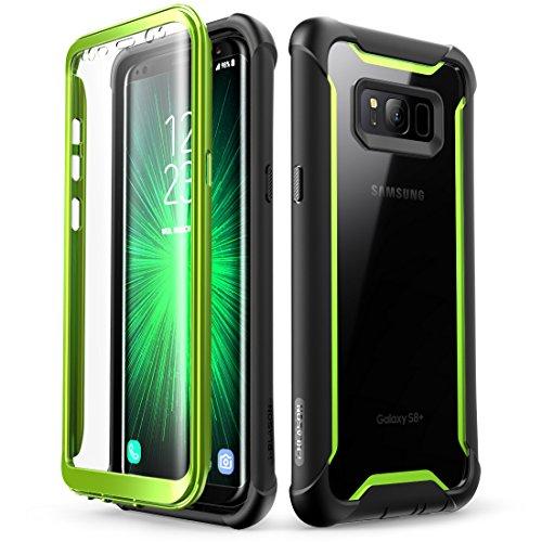 i-Blason Samsung Galaxy S8 Plus Hülle [Ares] Handyhülle 360 Grad Case Robust Schutzhülle Cover mit eingebautem Displayschutz für Galaxy S8 + Plus, Green
