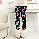 Hahuha Kinderbekleidung,3-4 Jahre alte Kinder Winter warme Hosen dicken Samt Leggings Kids Baby Girl Pencil Keuchens