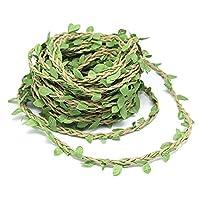 10m Silk Greenery Garland Faux Foliage Fake Leaves Hanging Vines Garland Artificial Plants for DIY Wreath Wedding Craft Home Decor