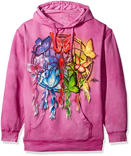 Butterfly Hooded Sweatshirt (The Mountain Herren Butterfly Dc Hooded Sweatshirt T-Shirt, violett, XX-Large)