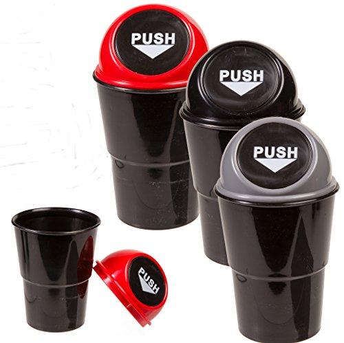 Bada Bing 3er Set Abfalleimer im Auto perfekt für den Getränkehalter Tisch Mülleimer