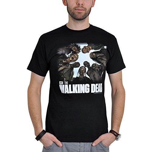 T-shirt Walking Dead Walkers rôdeurs pour homme coton noir, Vêtements
