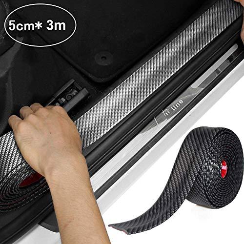 STYLINGCAR Auto Einstiegsleisten Aufkleber Kantenschutz Auto Gummi Stoßstange 5x300cm