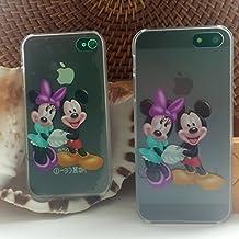 Cute Kids Disney duro cubierta de Tpu caso Back transparente (diseño de Mickey y Minie) iPhone 6S