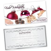 50 Weihnachtsgutscheine Gutscheinkarten XMAS RED HAND & FUß für Nagelstudio Gutscheine Geschenkgutscheine