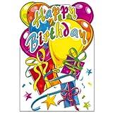 Susy Card 11286192 Glückwunschkarte Geburtstag, Luftballons, A4