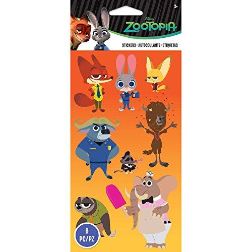 Disney Flat Stickers-Zootopia