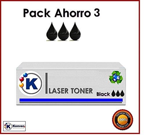Konver k-131a 3x Toner schwarz kompatibel, ersetzt CF210A Schwarz: Pro 200Color M251, Pro 200Color M251NW, Pro 200Color MFP M276N, Pro 200Color MFP M276nw. Versand aus Madrid. (Generische Tinten-patronen Für Canon)