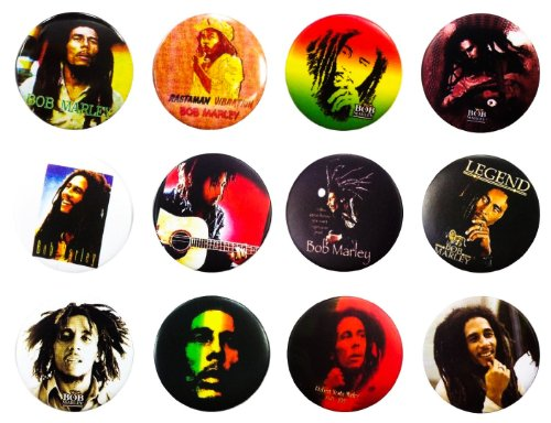 Bob Marley Jamaika (3), Awesome Qualität Menge 12neuen Pin Button Badge ()