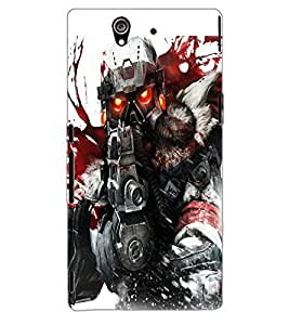 ColourCraft The Soldier Design Back Case Cover for SONY XPERIA Z1